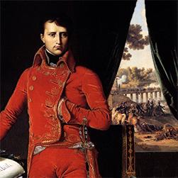 Portrait-of-Napoleon-Bonaparte-as-First-Consul_Jean-Auguste-Dominique-Ingres-(JW-Added-Battle-of-Lodi-in-Backgroun