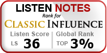 Listen Notes Top Ranking for Classic Influence Podcast